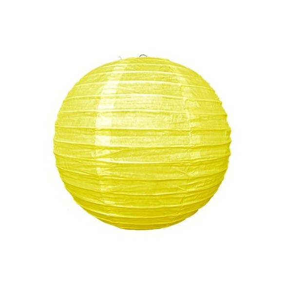 Lampion ballon jaune 25cm