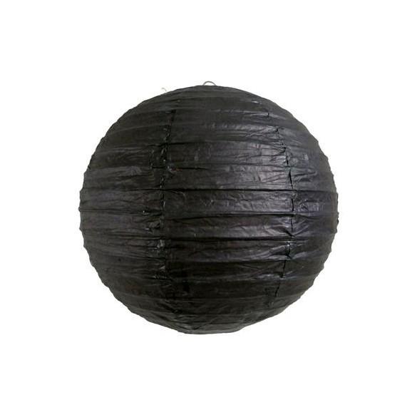 Lampion ballon noir 25cm