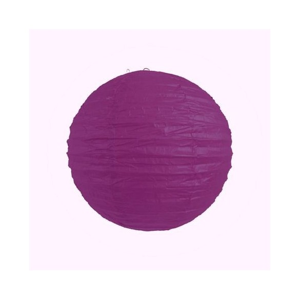 Lampion ballon violet 25cm
