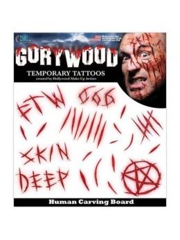 Planche tatouages entailles