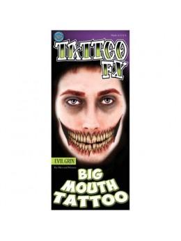 Tatouage sourire géant malfaisant