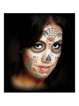 Tatouage facial Day of the dead