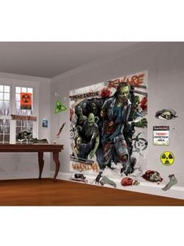 Lot de 32 cutouts Asile zombie invasion