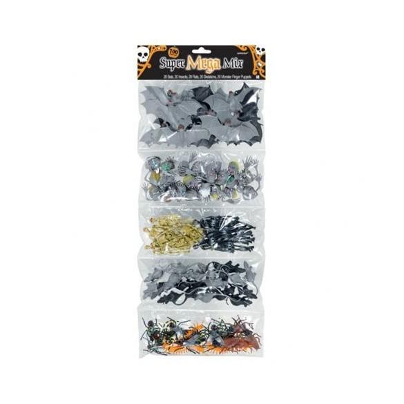Maxi pack 100 créatures Halloween