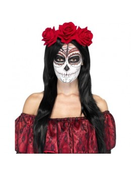Serre tête mexicain roses rouges