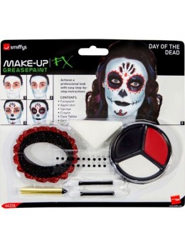 """Kit maquillage squelette """"day of the dead"""""""