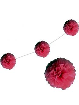 6 fleurs papier de soie 20cm bordeaux
