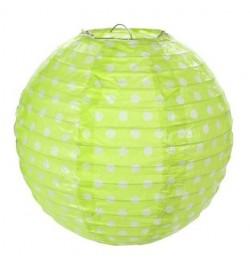 2 Lampions ballons à pois 20cm vert