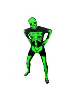 Déguisement morphsuit squelette fluo