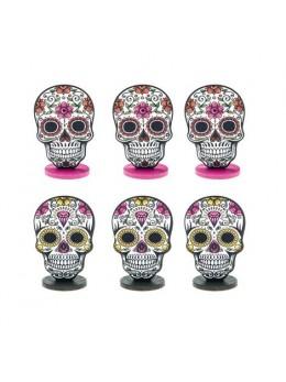 """6 Marque place squelette mexicain """"Los muertos"""""""