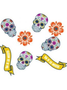 """24 confetti squelettes mexicains """"Los muertos"""""""