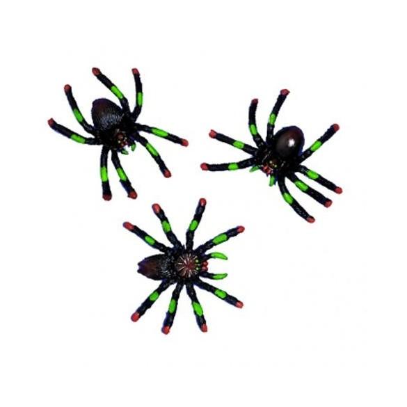 Lot de 8 araignées assortis