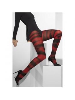 Collants Néon rouge et noir