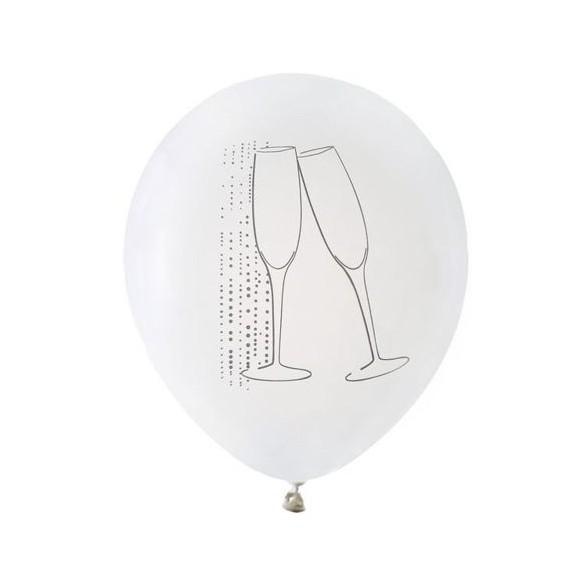 """8 Ballons blanc """"champagne"""""""