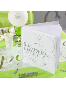 "Livre d'or blanc ""Happy"""
