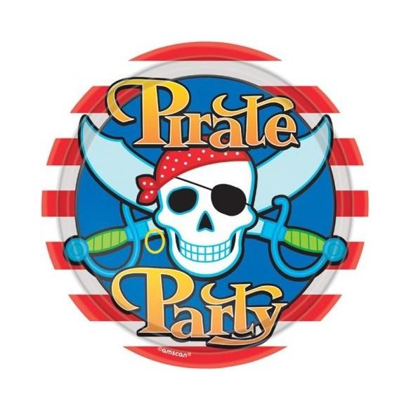 8 Assiettes Pirate Bounty 18cm