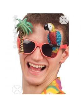 Lunettes hawai avec perroquet