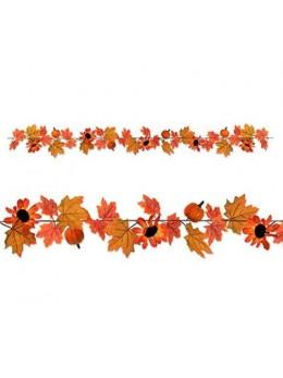 Guirlande d'automne feuillage et citrouilles