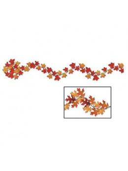 Guirlande d'automne feuilles mortes