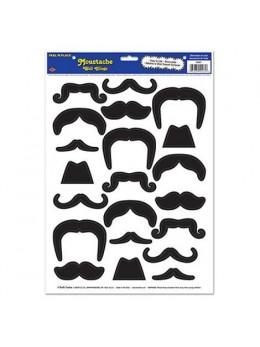 Plaque 21 stickers moustaches