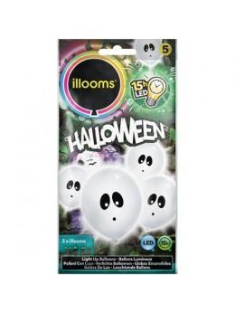 5 Ballons Led fantôme