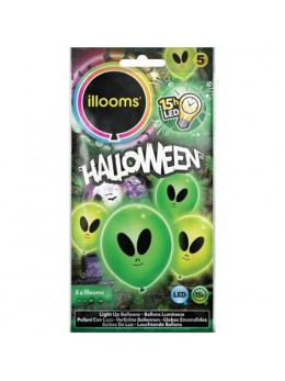 5 Ballons Led alien