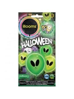 5 Ballons Led alien