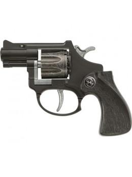 Pistolet métal R8 noir 12cm