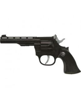 Pistolet métal Mustang noir 19cm