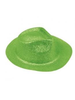 Borsalino paillettes vert fluo
