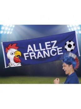 """Bannière tissu """"Allez la France"""""""