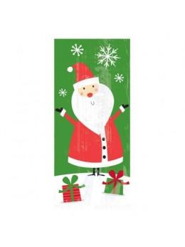 20 sacs cellophane Père Noël