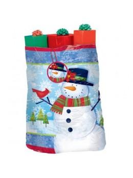 Sac cadeau bonhomme de neige 1m40