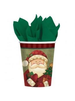 8 gobelets Santa père Noël