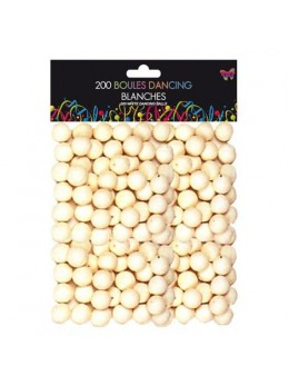 Sachet 200 boules dancing blanches