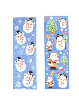 8 planches étiquettes adhésives Noël