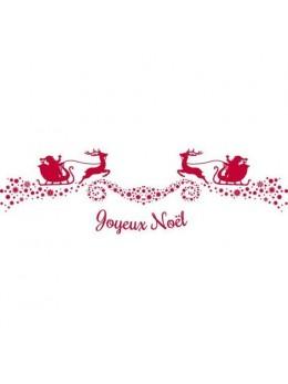 Chemin de table Noël traineau rouge