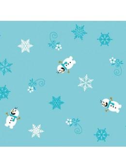 Chemin de table paillettes bonhomme de neige