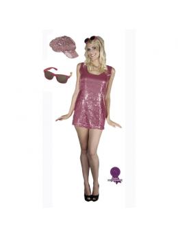 Pack déguisement femme disco fuchsia