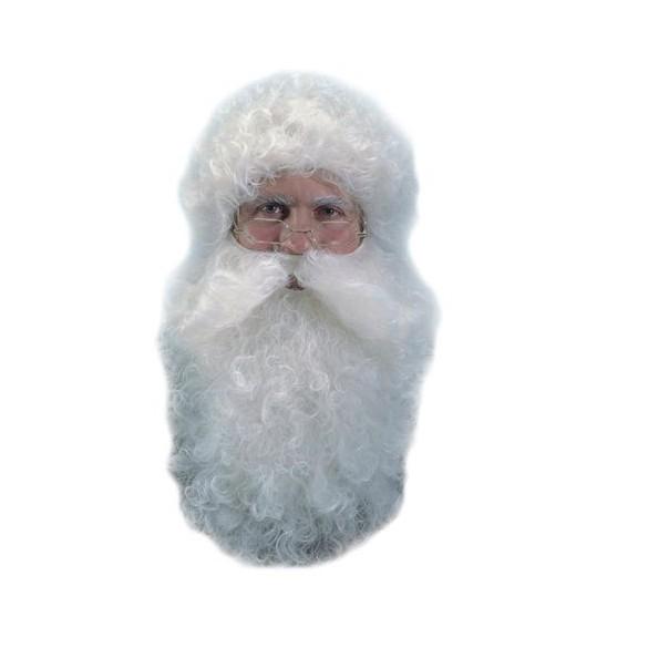 Perruque+ barbe Père Noël naturel