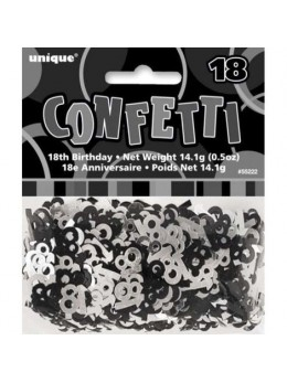 Confetti 18 ans black and white
