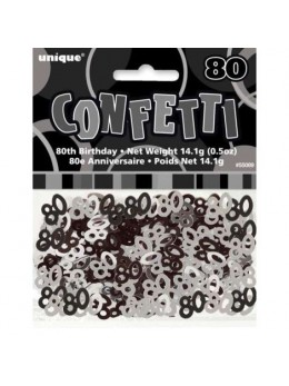 Confetti 80 ans black and white