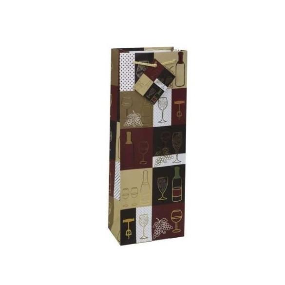sac cadeau bouteille de vin f tes en folie. Black Bedroom Furniture Sets. Home Design Ideas