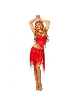 Set déguisement danseuse orientale rouge