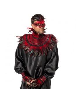 Kit déguisement Carnaval plumes rouge