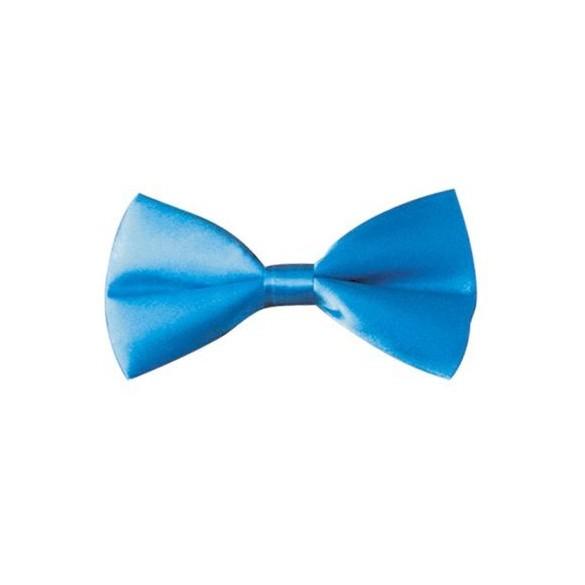 Noeud Papillon Satin Bleu Fluo
