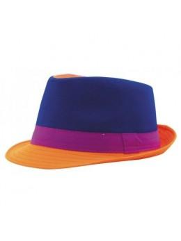 Chapeau Trilby néon bleu