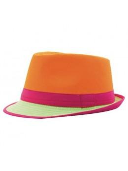 Chapeau Trilby néon orange