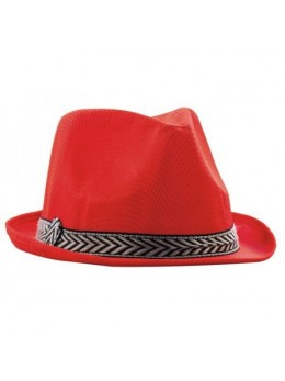 Chapeau Tony polyester rouge