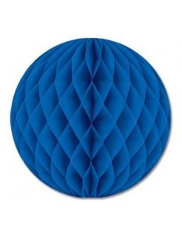 Boule papier ignifugé 25 cm bleu roi